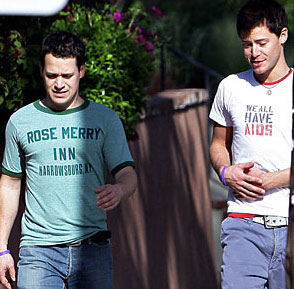 Celebrities Wear T-Shirts to Raise Awareness – We All Have AIDS T-Shirts