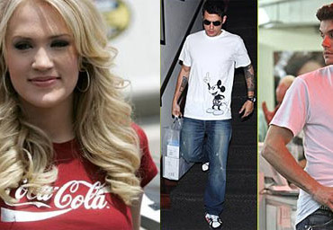 Celebrities Support Major Corporatations on T-Shirts