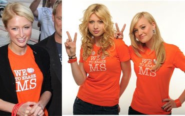 Celebrities Wear T-Shirts to Raise Awareness of MS