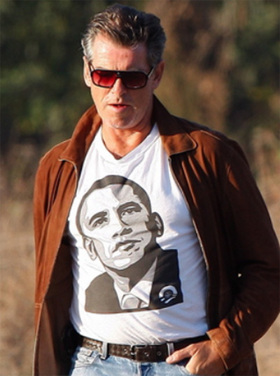 Obama Pierce Brosnan